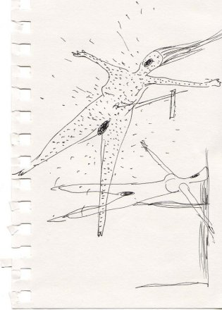 Kresby ze skicáku k nafukovacím pannám II