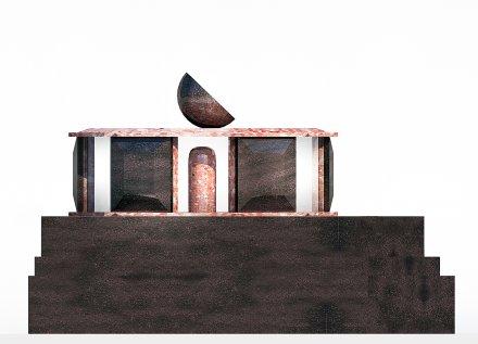 Hrobka diamant - boční pohled